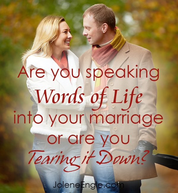 Are you speaking words of life in your marriage?
