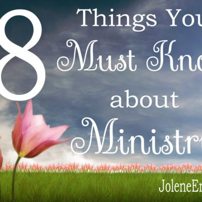 8 Things You Must Know About Ministry…& a Link-Up!