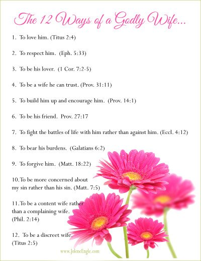 The 12 Ways of a Godly Wife by Jolene Engle