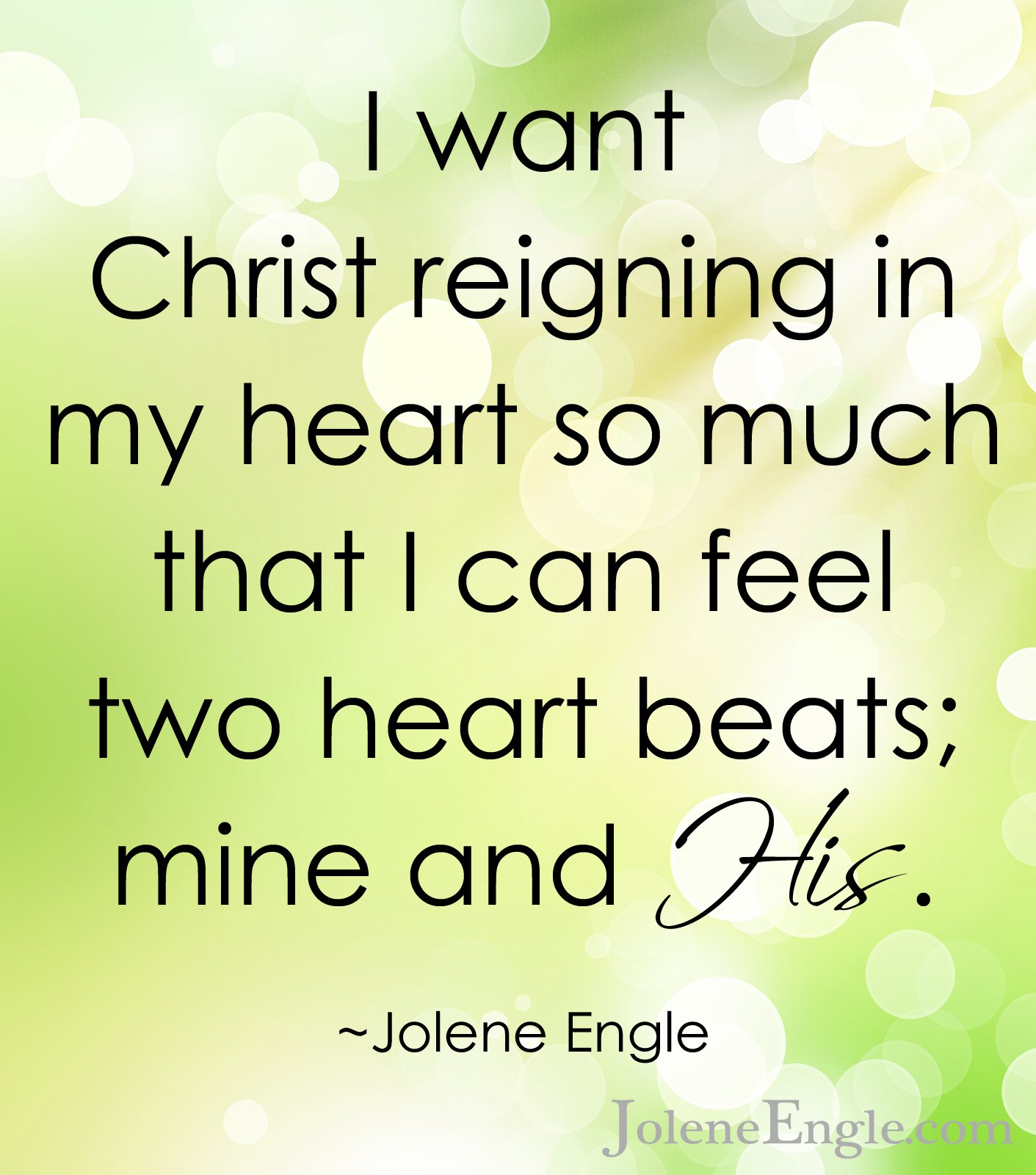 christ reigning in my heart copy