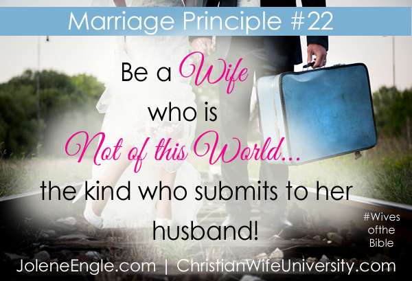 Marriage Principle #22 from the life of Elizabeth- Wives of the Bible by Jolene Engle